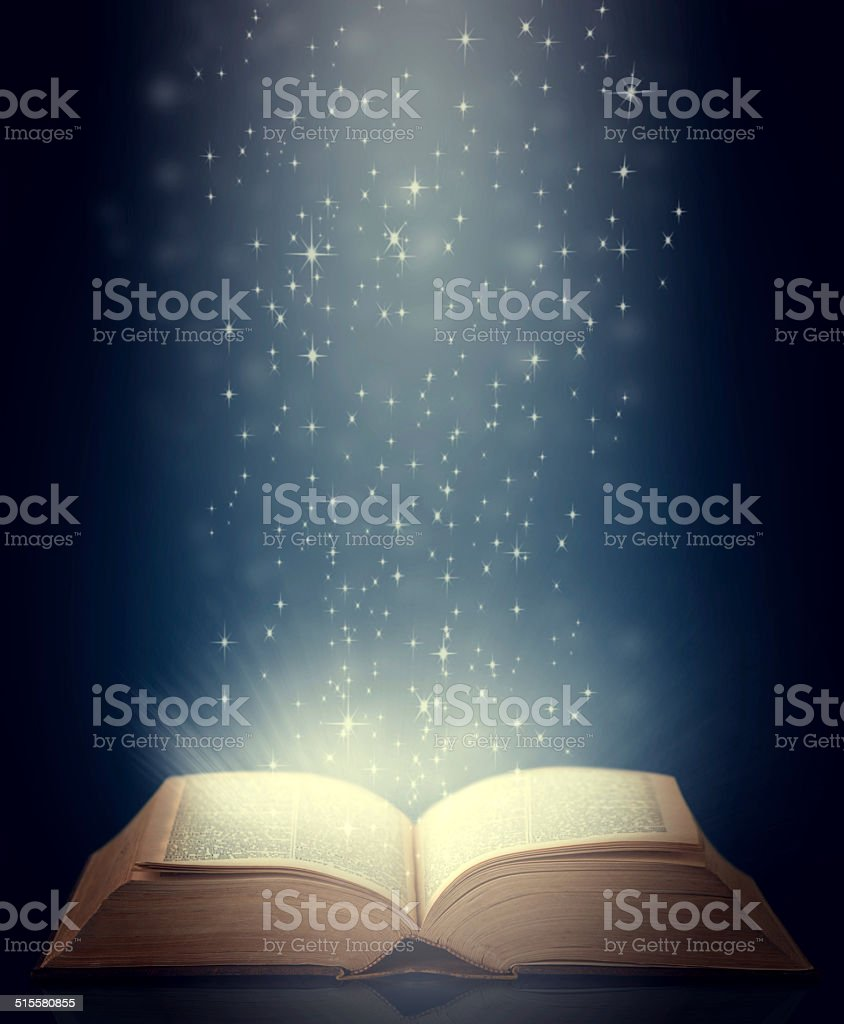 History lies within these pages stock photo