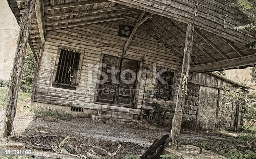 Once a local gas station and general store, now you a rundown building in Lincoln County Tenn