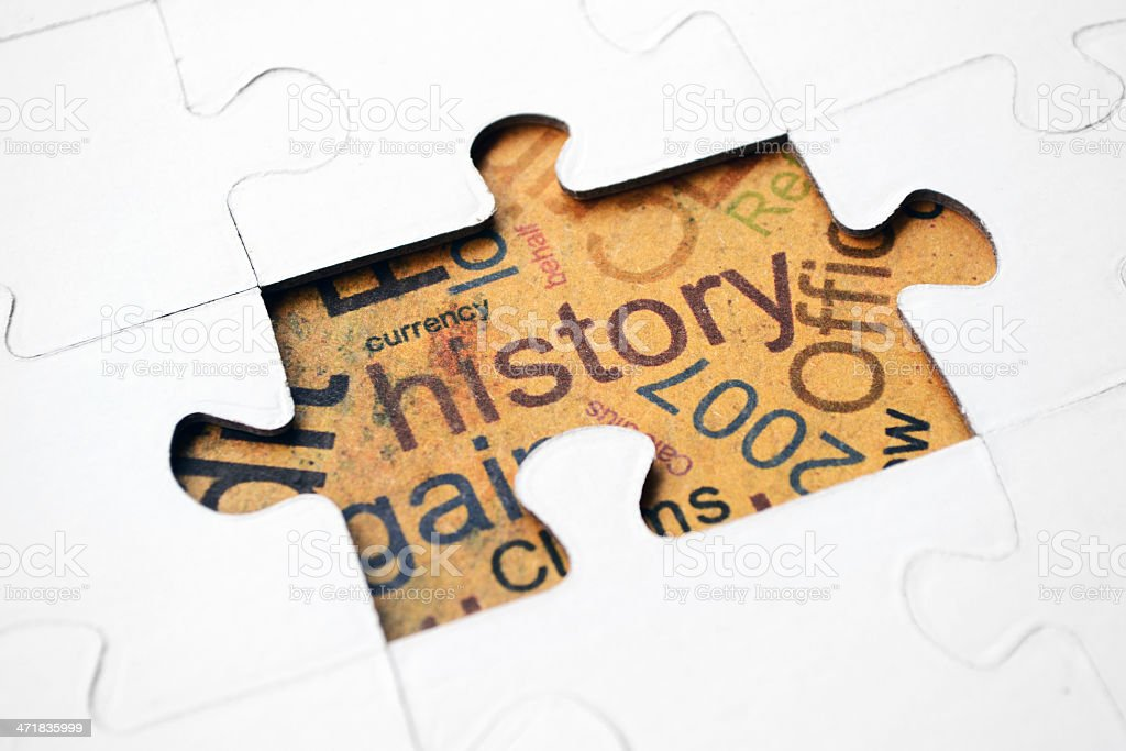 History puzzle concept royalty-free stock photo