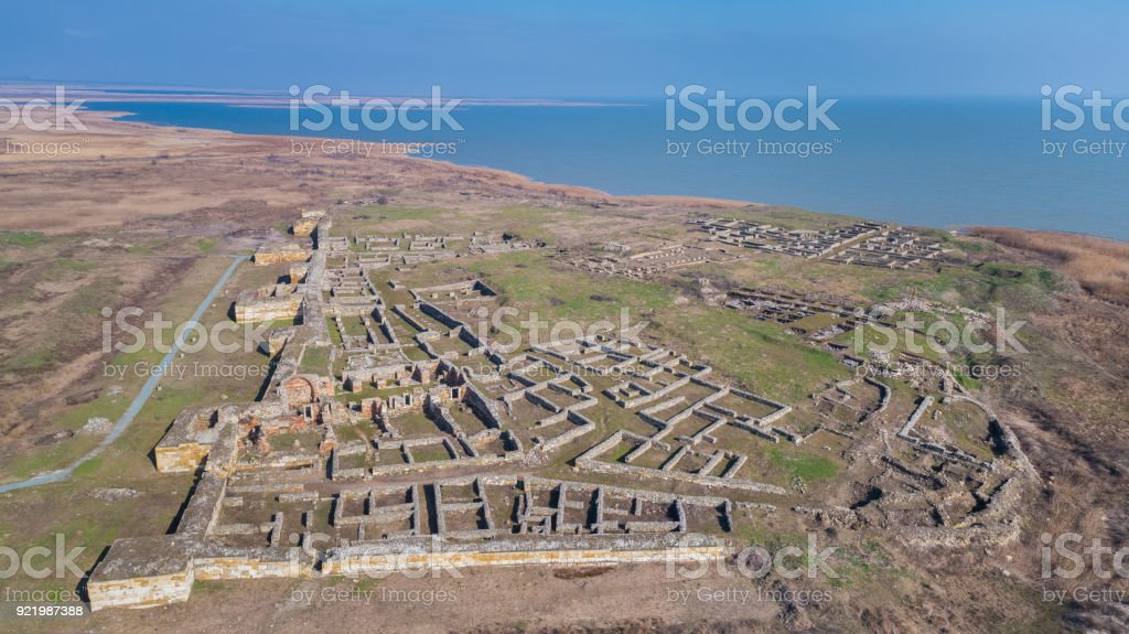 Histria fortress ruins, Romania stock photo