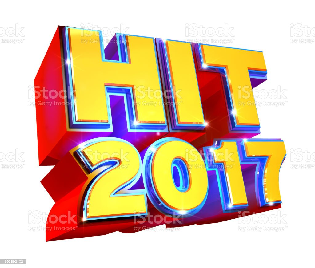 Hit 2017 3d logo stock photo