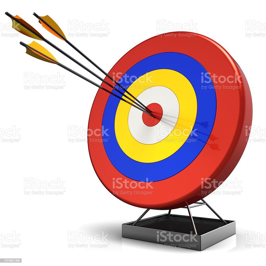 Hit a target (Hi-Res) royalty-free stock photo