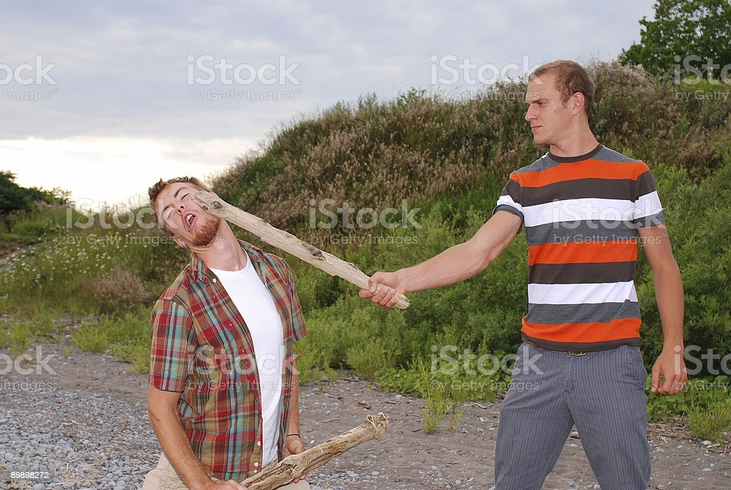 Hit in the Face royalty-free stock photo