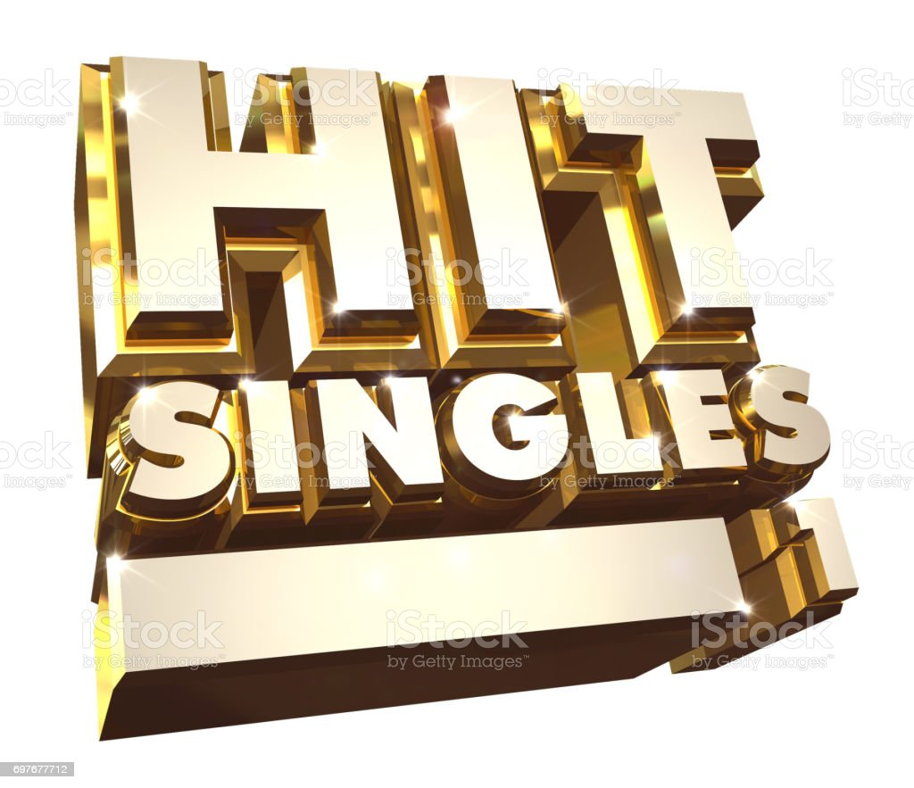 Hit Singles volume 1 - 3d logo stock photo
