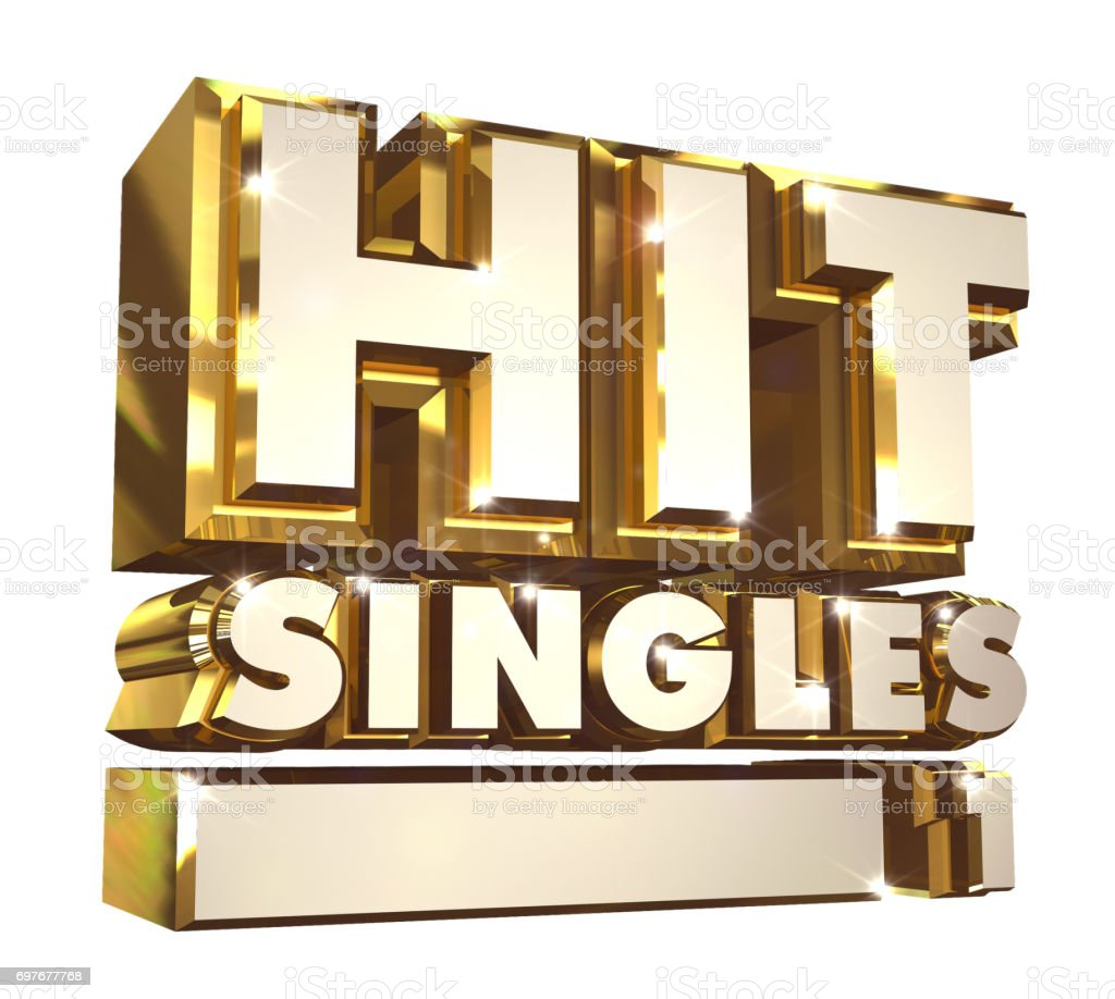 Hit Singles volume 1- 3d logo stock photo
