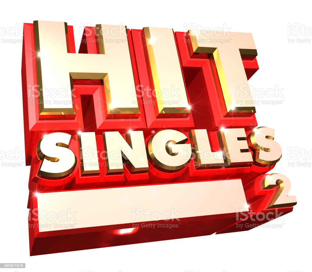 Hit Singles volume 2- 3d logo stock photo