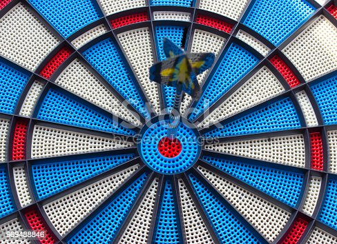 istock Hit the arrow in the fifty in the target 969488846