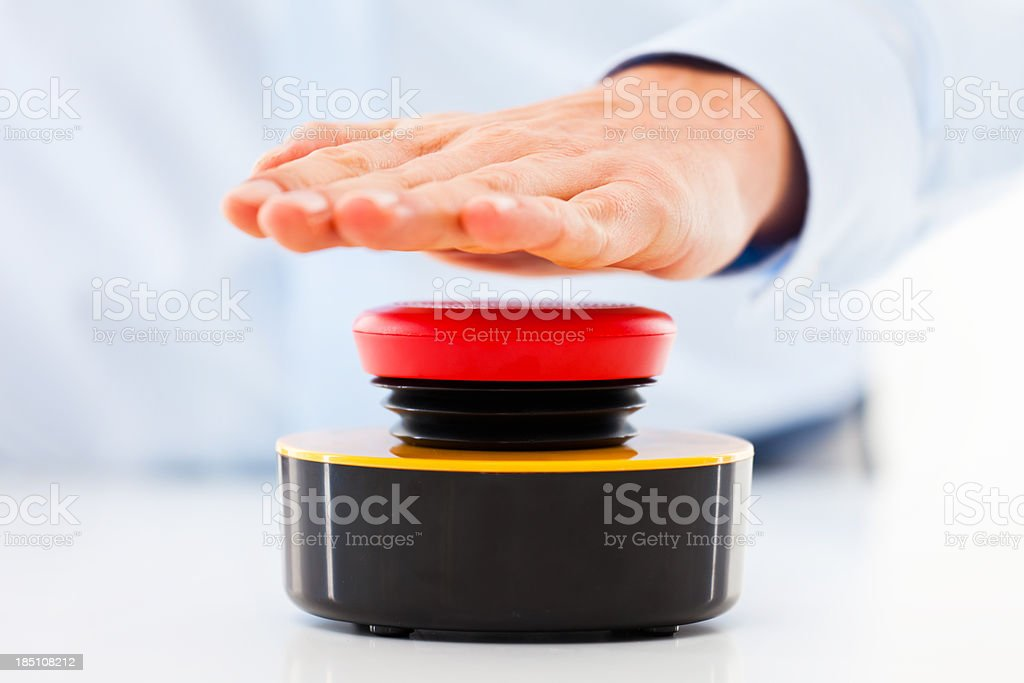 Hit the buzzer! stock photo