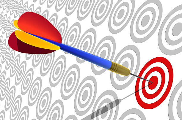 Hit the Right Target stock photo