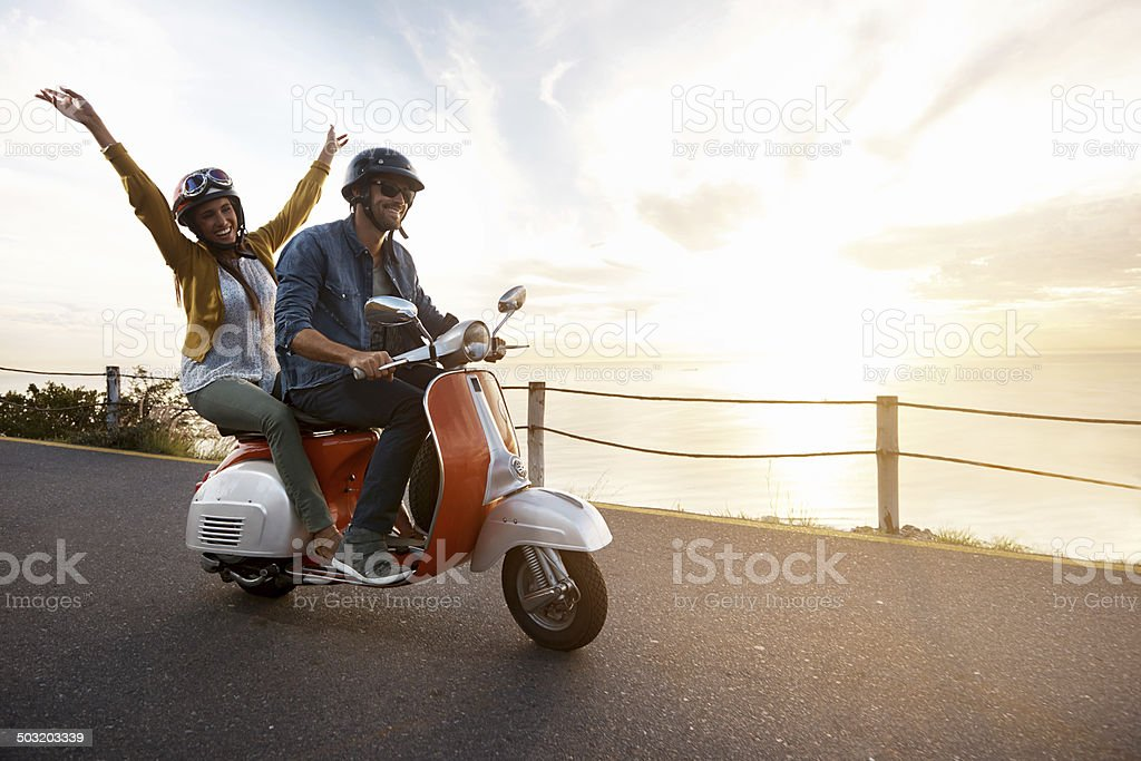 Hit the road Jack! stock photo
