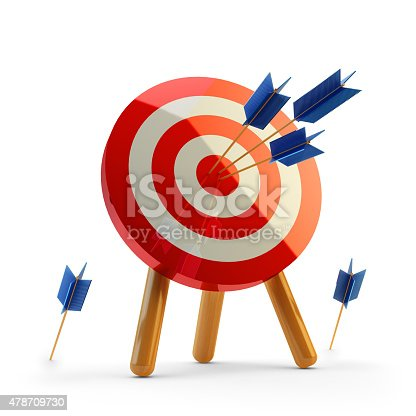 859332096istockphoto Hit the target concept, successful business strategy and targeting 478709730