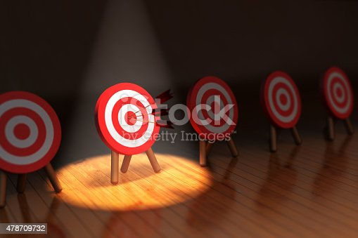 840201636 istock photo Hit the target concept, successful business strategy and targeting 478709732