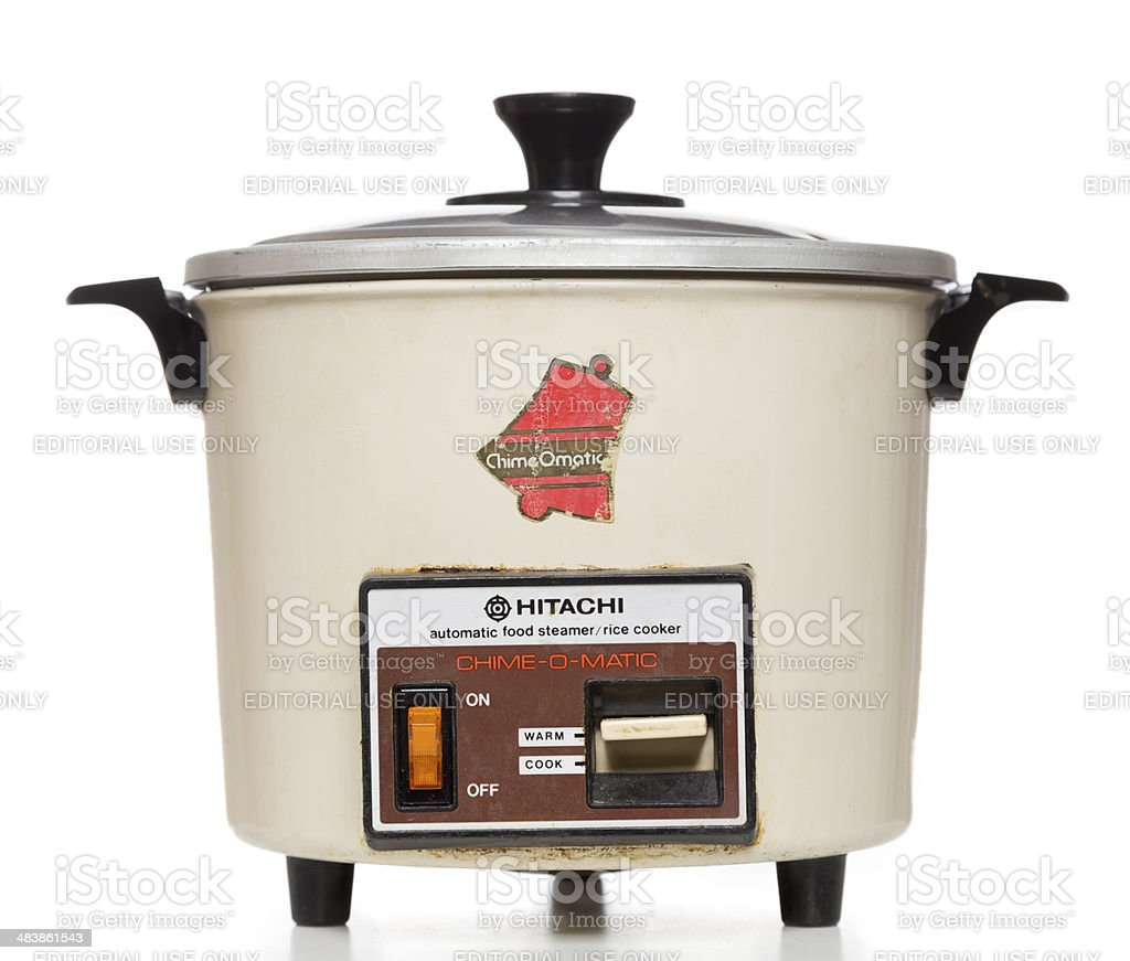 Hitachi automatic food steamer rice cooker stock photo
