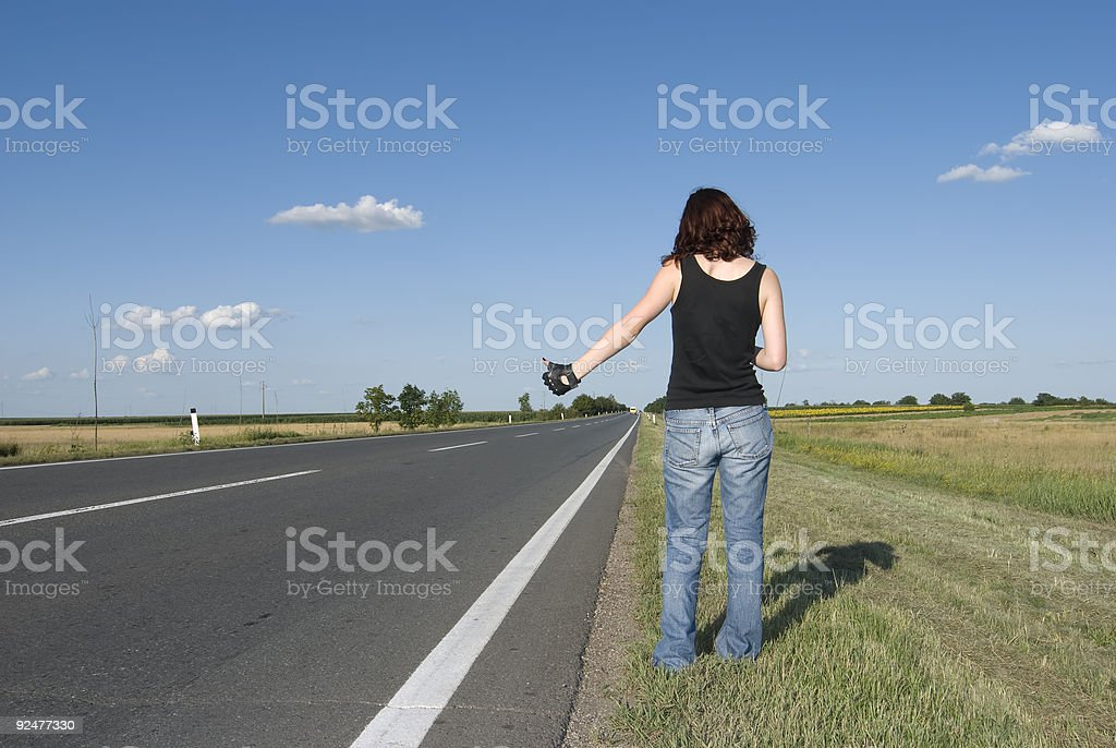 Hitch hike royalty-free stock photo