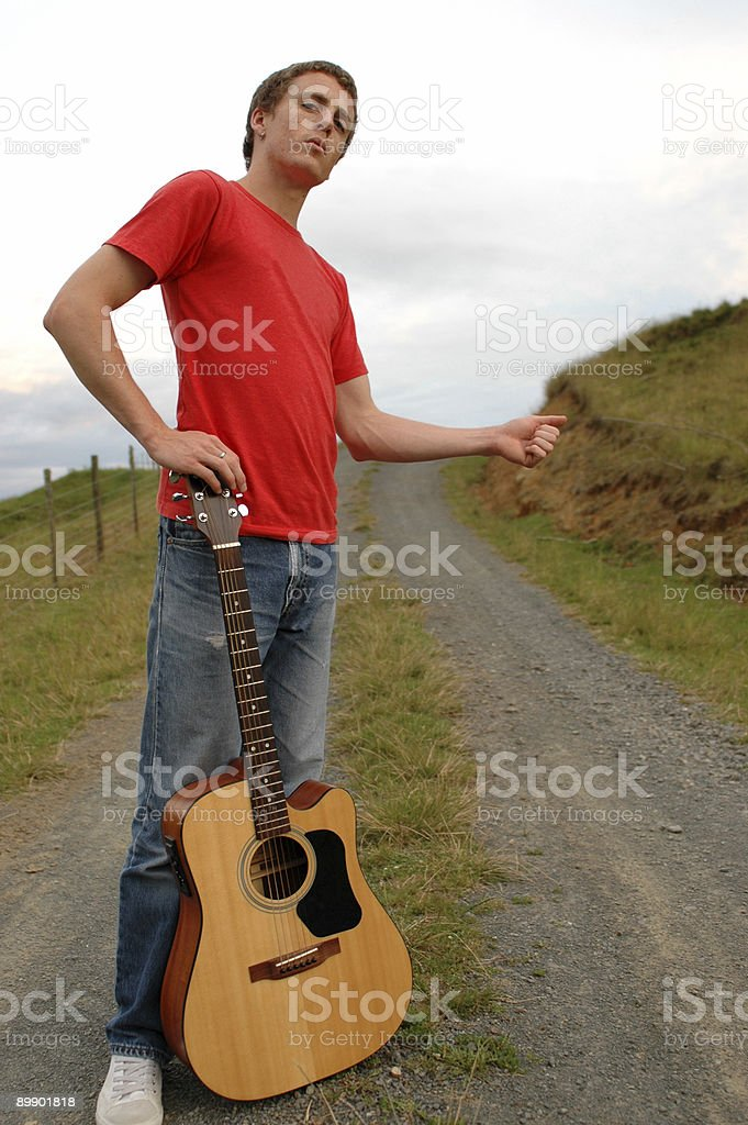 hitch hiker royalty-free stock photo