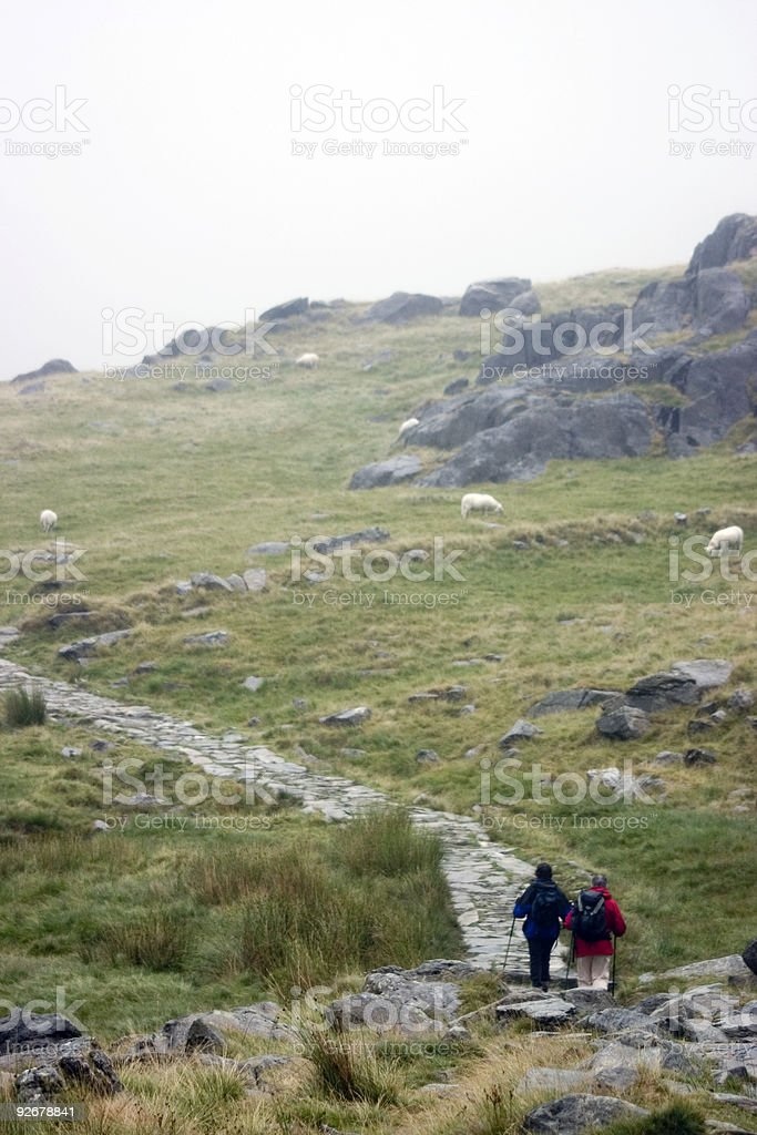 Hitchhikers guide to .... snowdonia royalty-free stock photo