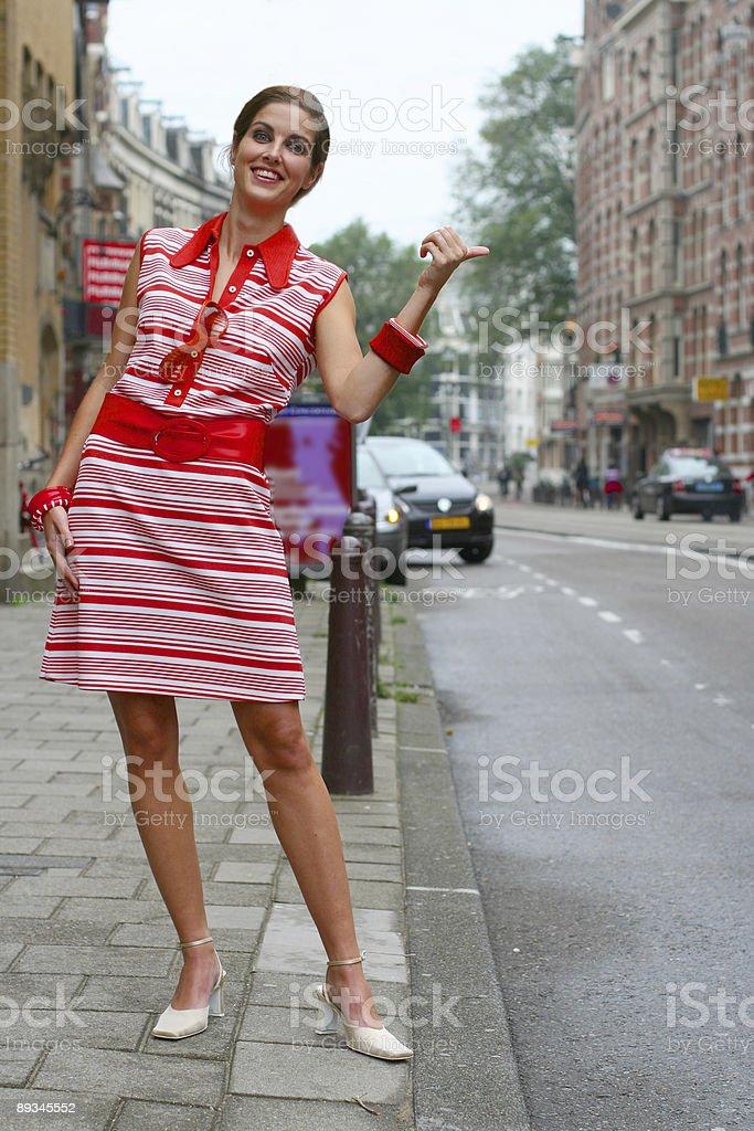 Hitchhiking royalty-free stock photo