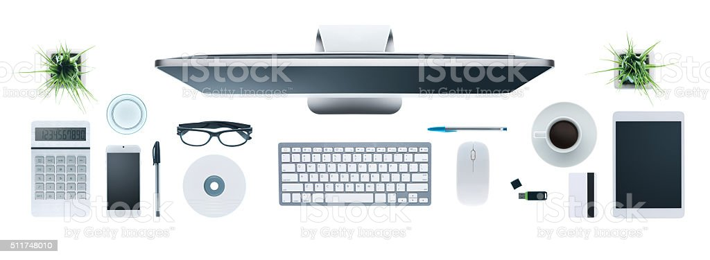 Hi-tech business desktop stock photo