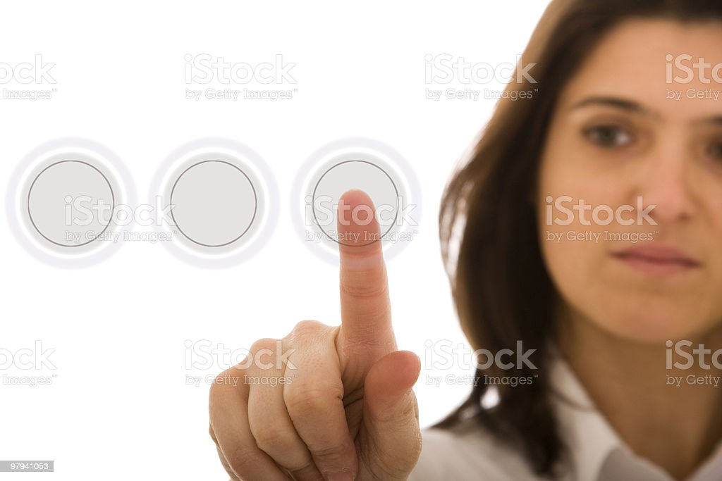 Hi-tech button royalty-free stock photo