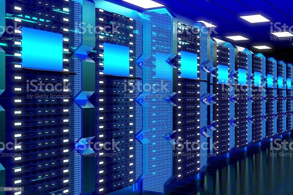 Hi-Tech Data Center stock photo