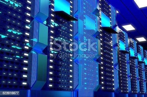 802317162 istock photo Hi-Tech Data Center 523916677