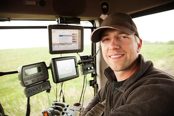 hi-tech farming - farmer stock photos and pictures