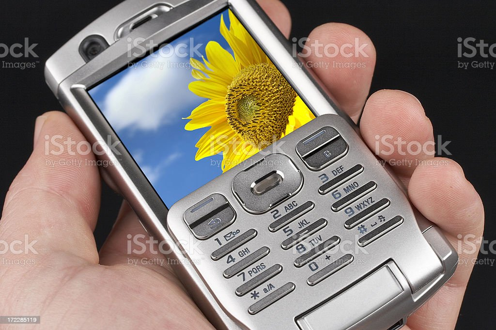 Hi-Tech PDA mobile phone (clipping path) royalty-free stock photo