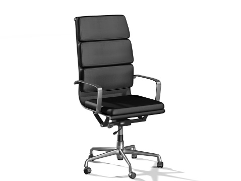 Hi-Tech-Chair isolated on white background.