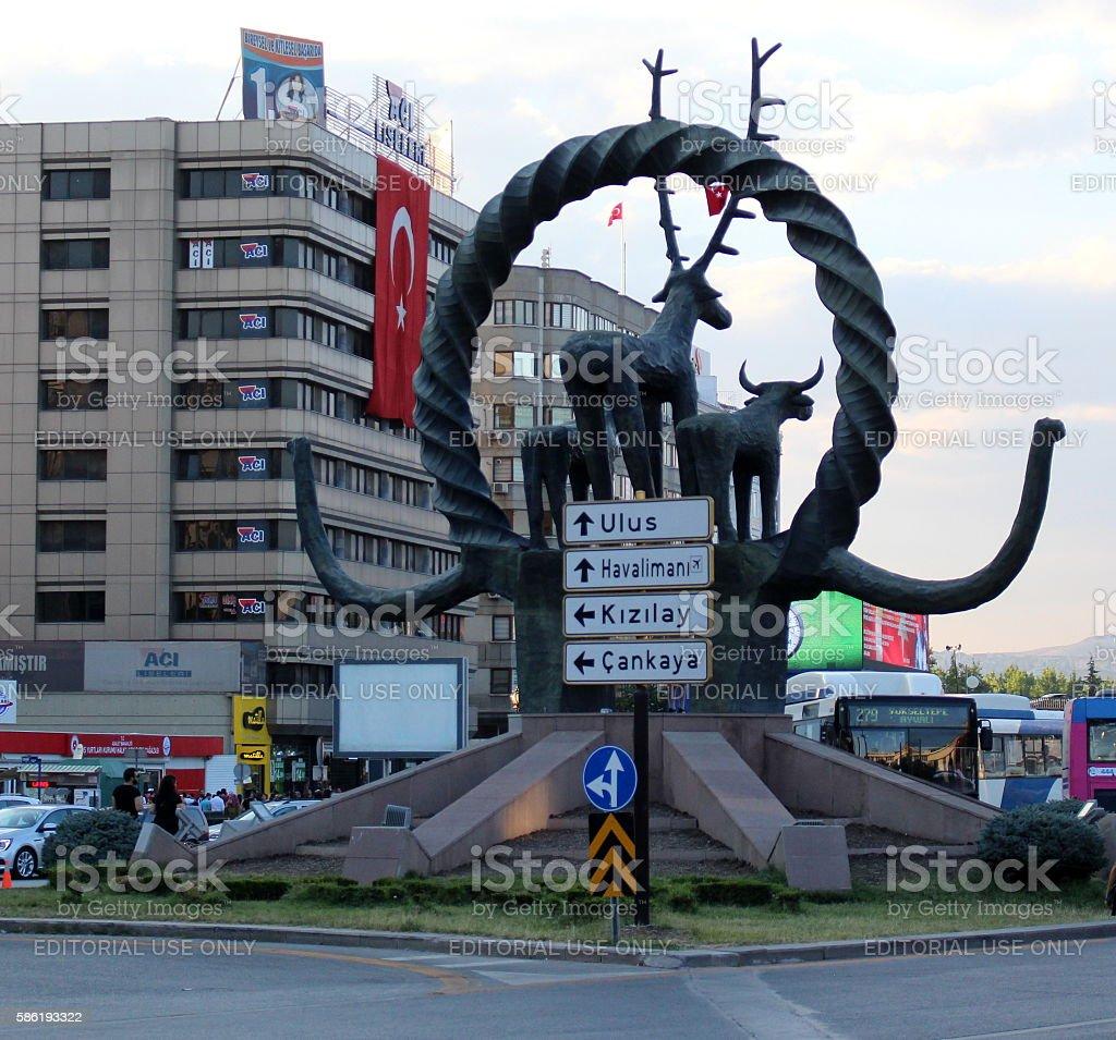 Hitit Statue in Kızılay Ankara - foto de stock