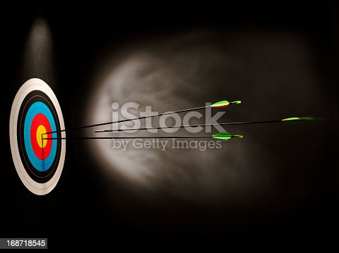 istock Hitting a Archery Target with Speed 168718545