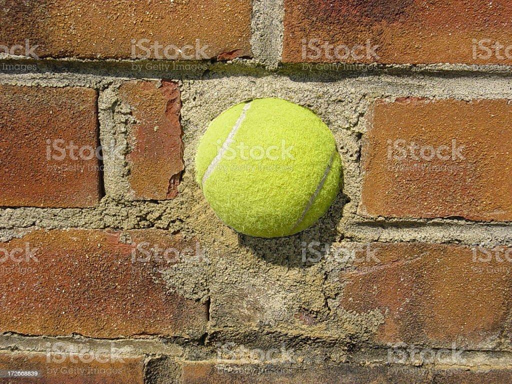 Hitting A Brick Wall! royalty-free stock photo