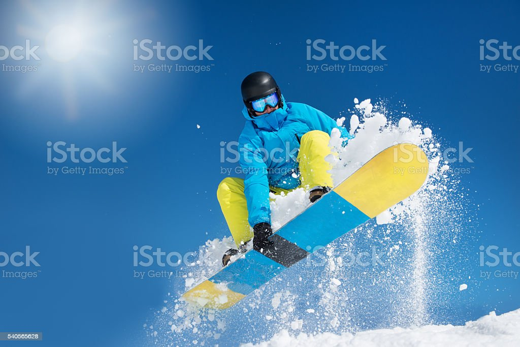 Hitting a jump stock photo