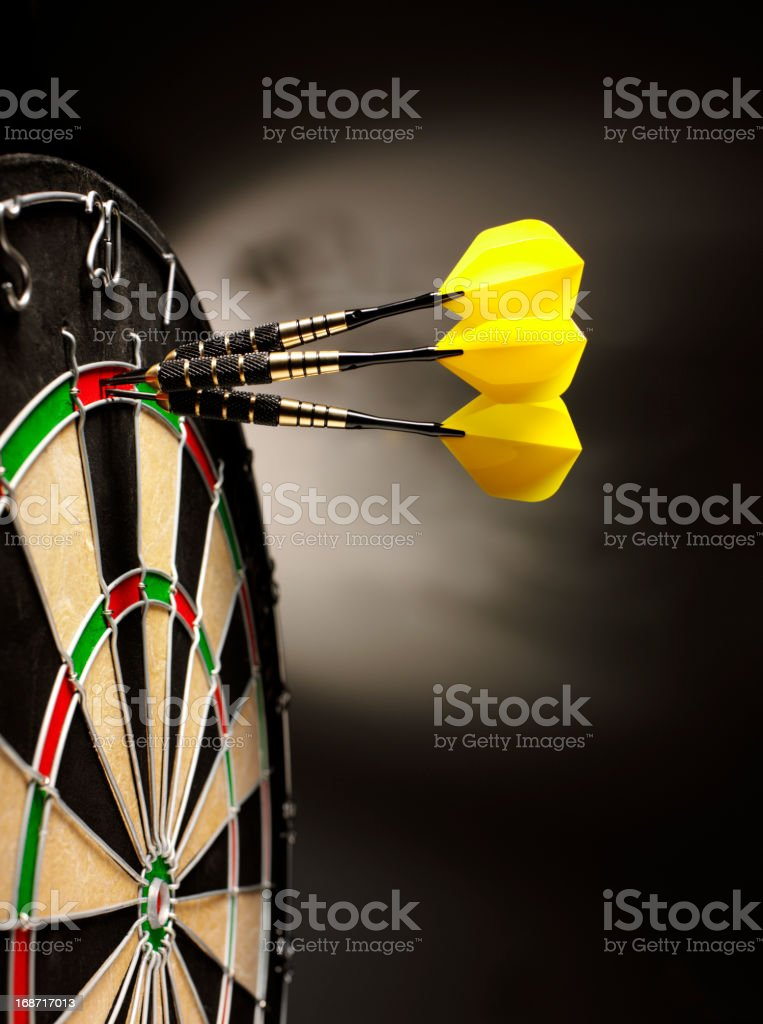 Hitting a Target in Darts royalty-free stock photo