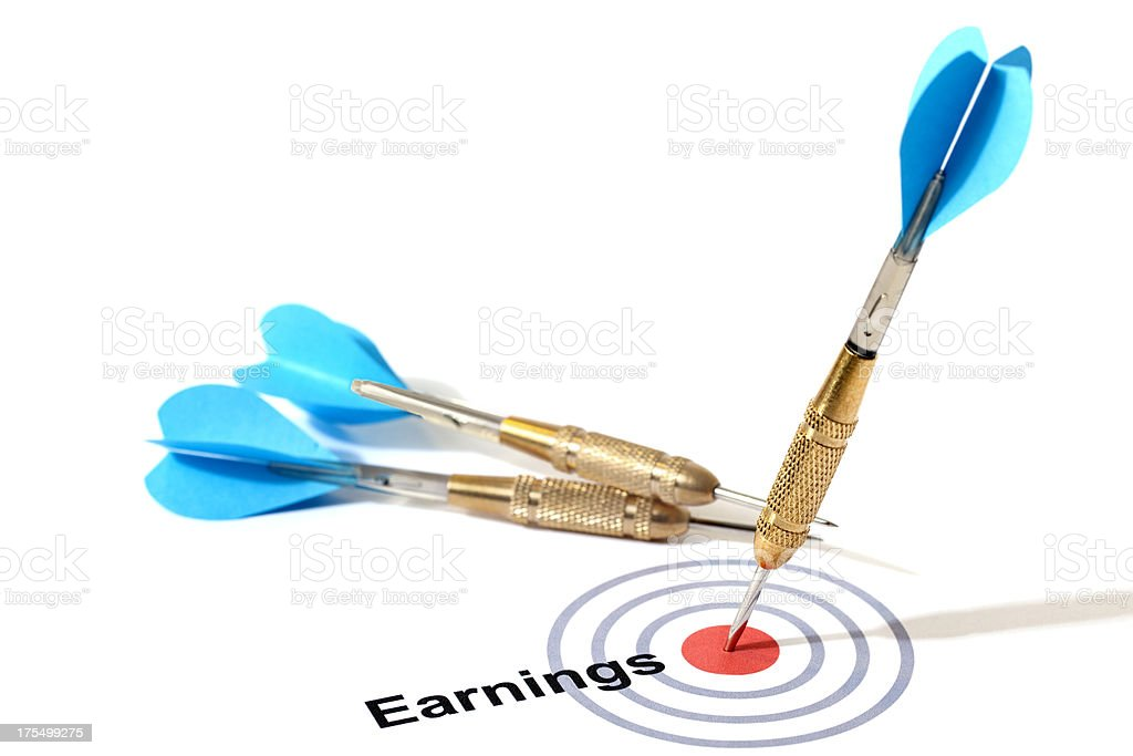 Hitting Earnings Projection Target royalty-free stock photo