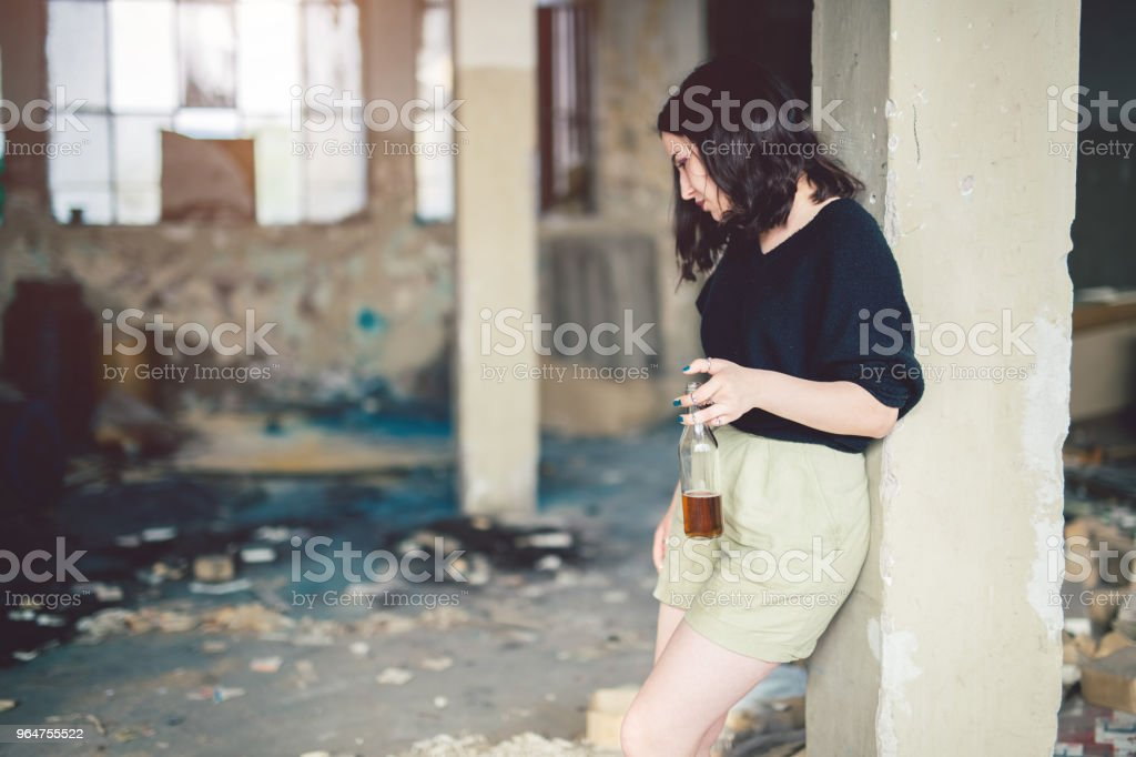 Hitting the bottle royalty-free stock photo