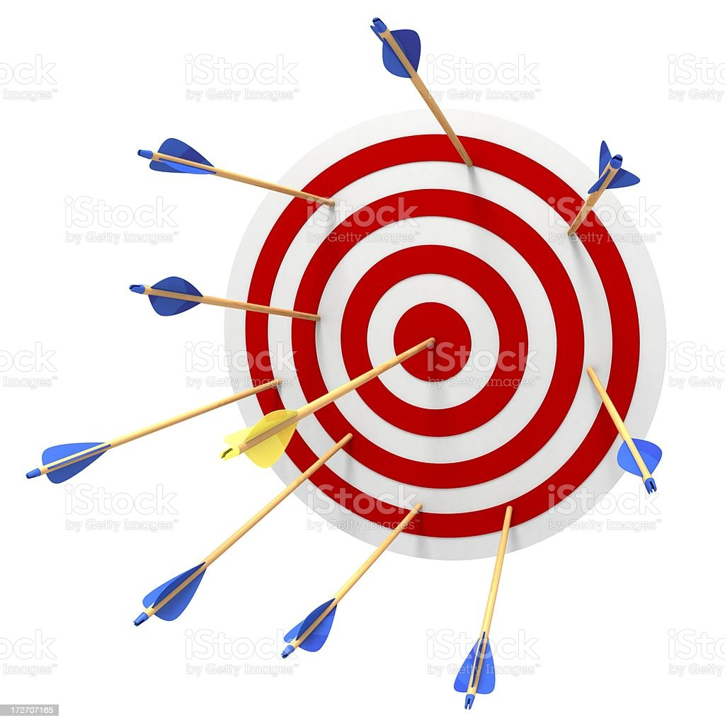 Hitting the bulls eye royalty-free stock photo