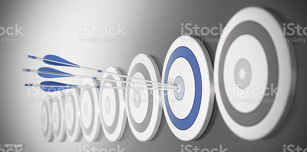 hitting the mark, reaching objectives stock photo