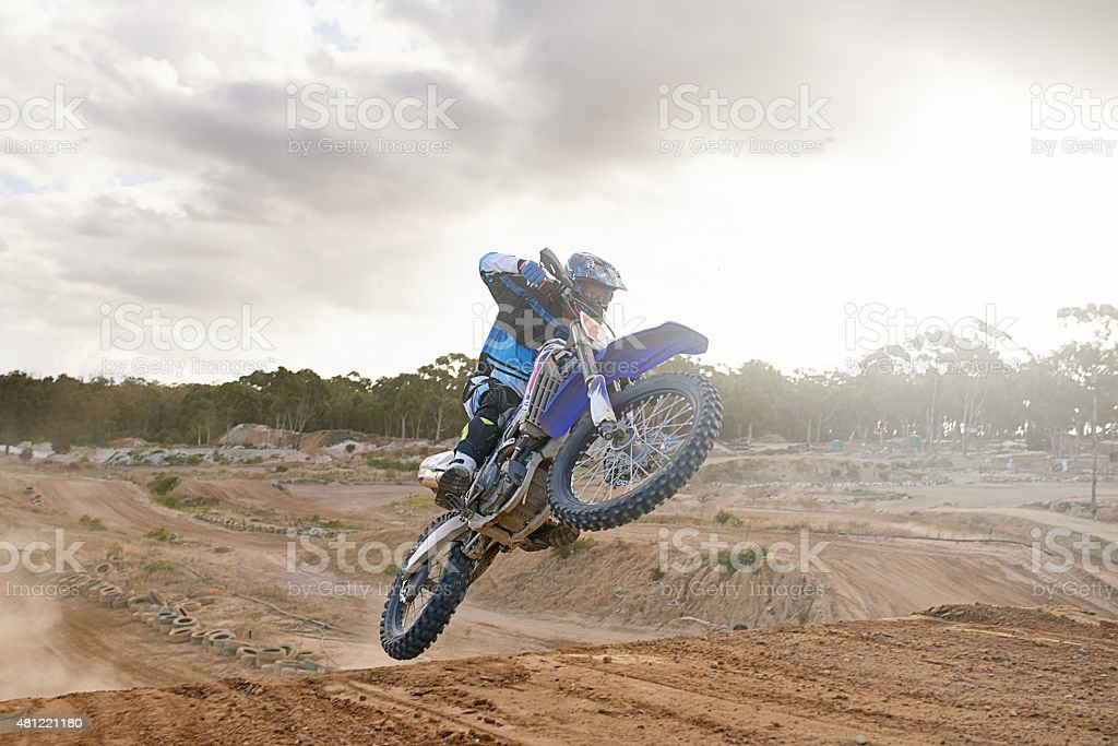 Hitting the ramp at just the right angle stock photo