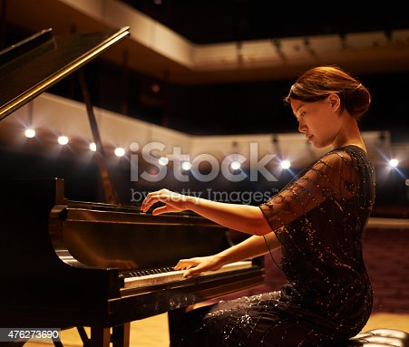 Shot of a young woman playing the piano during a musical concerthttp://195.154.178.81/DATA/i_collage/pu/shoots/804836.jpg