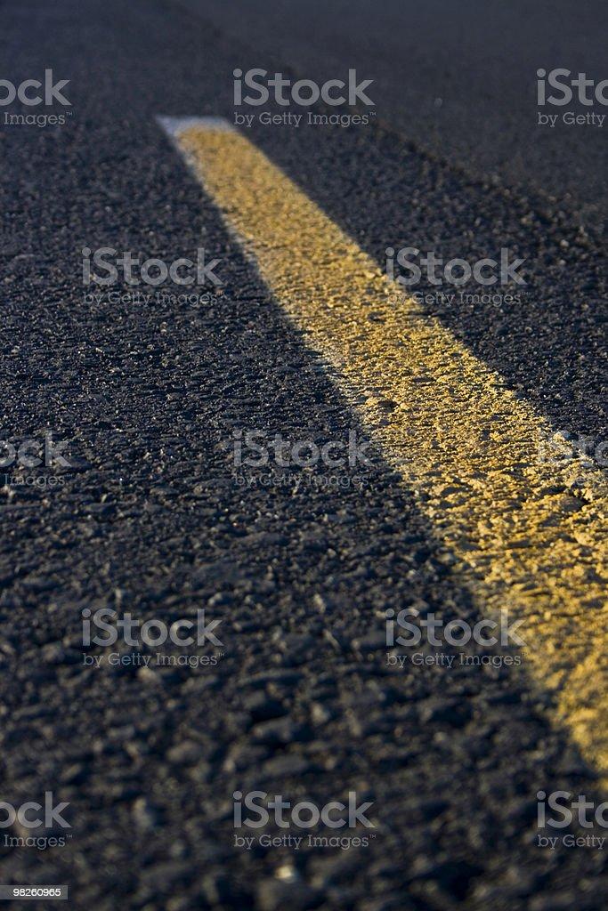 때리기 the road royalty-free 스톡 사진