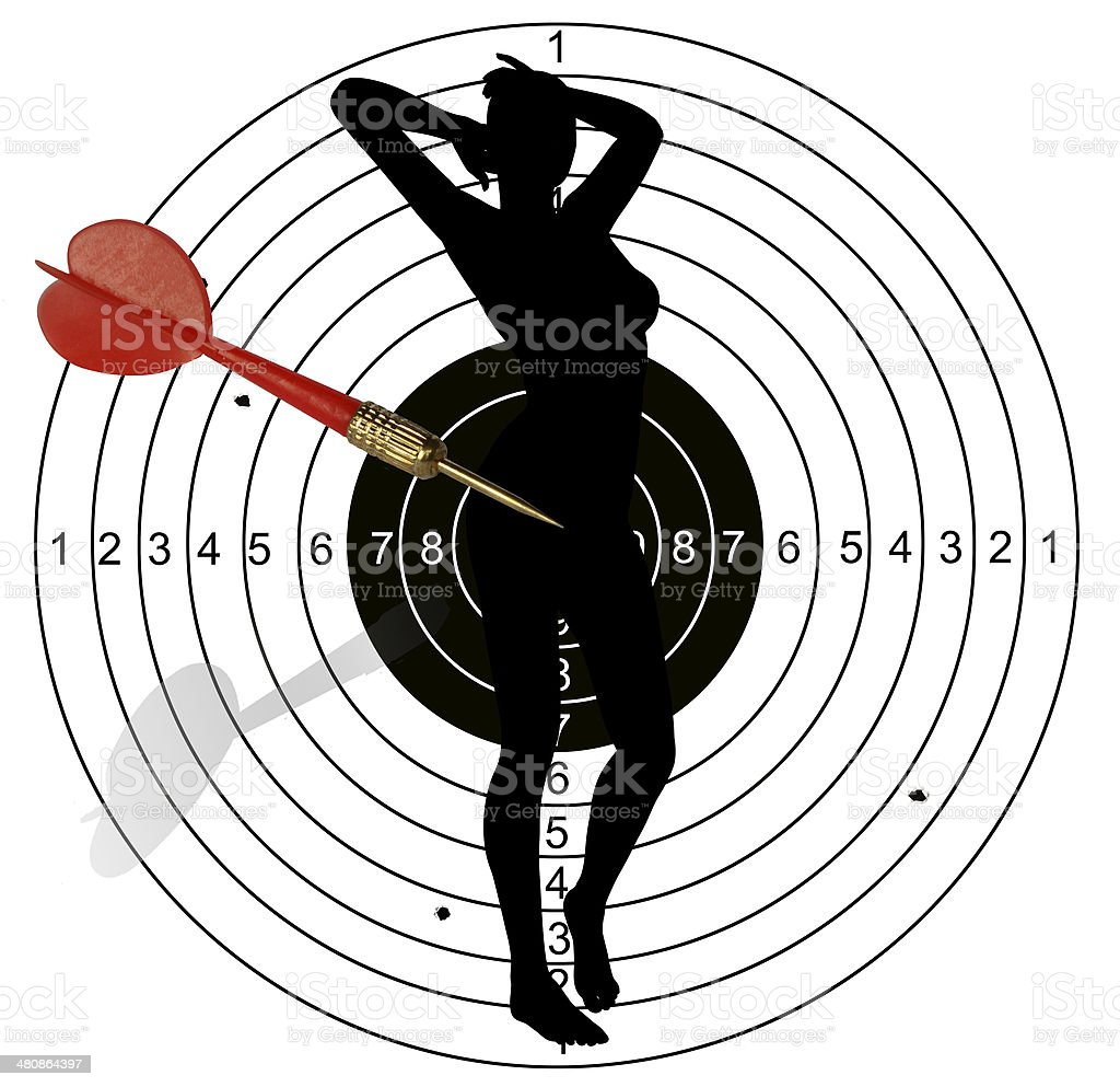 Hitting the target stock photo