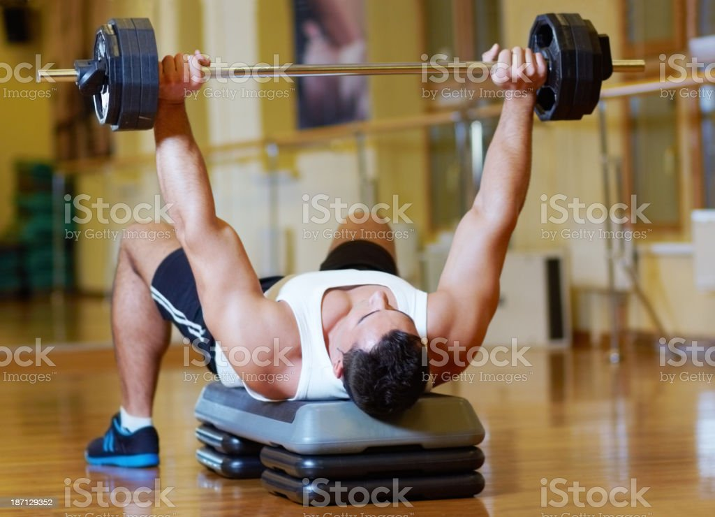 Hitting the weights stock photo