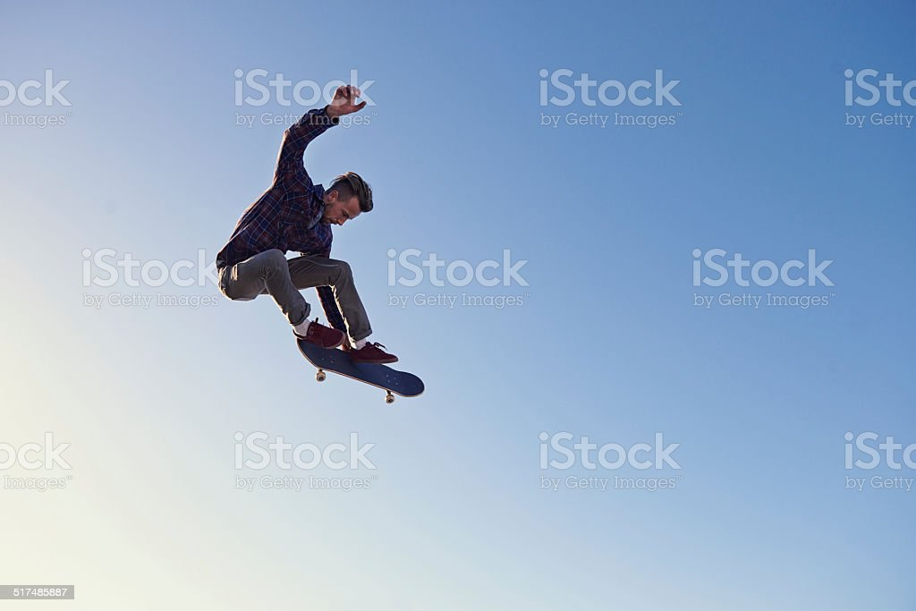 Hitting those heights stock photo