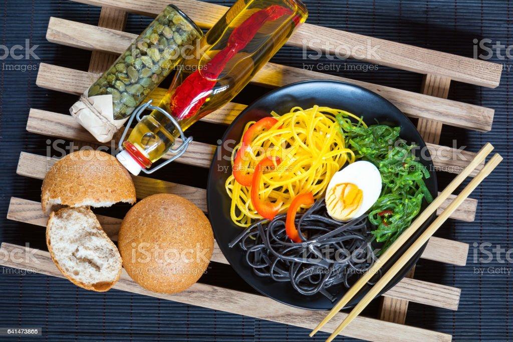 Hiyashi wakame with sesame and nut sauce royalty-free stock photo