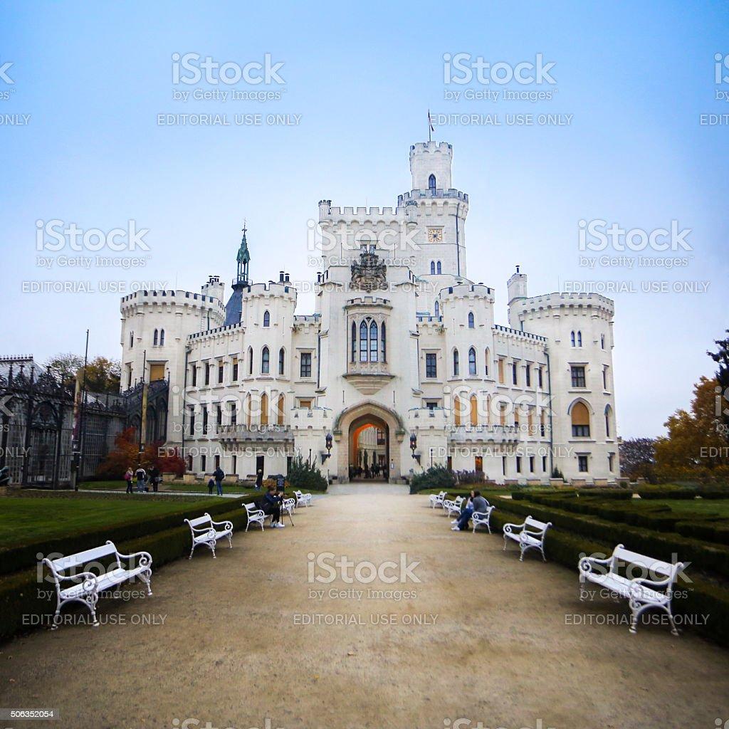 Hluboka castle stock photo
