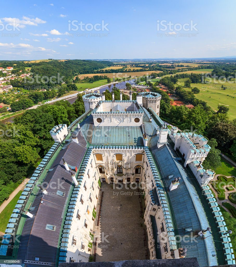 Hluboka nad Vltavou (in German Frauenberg) palace, Czech Republic stock photo