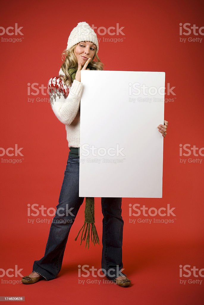 Hmm Christmas Message royalty-free stock photo