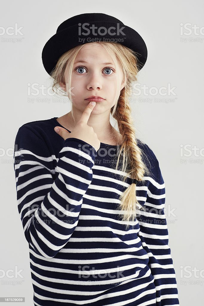Hmm, I wonder what I'll become one day? stock photo