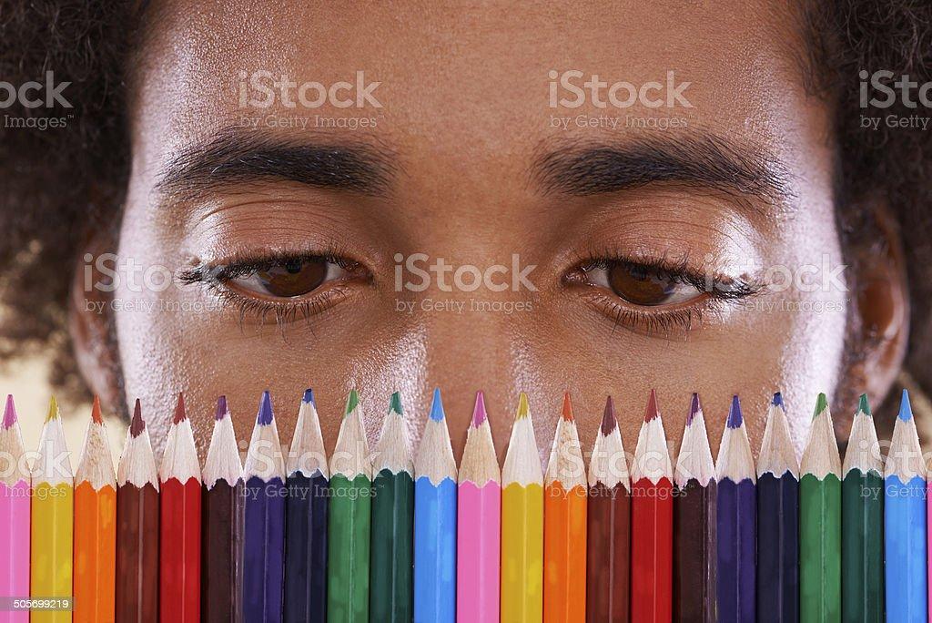 Hmm, so many colors... stock photo