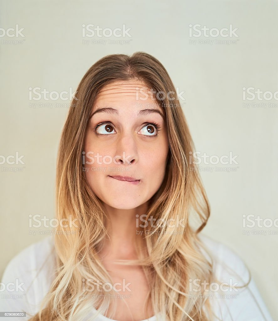 Hmmm... I wonder... stock photo